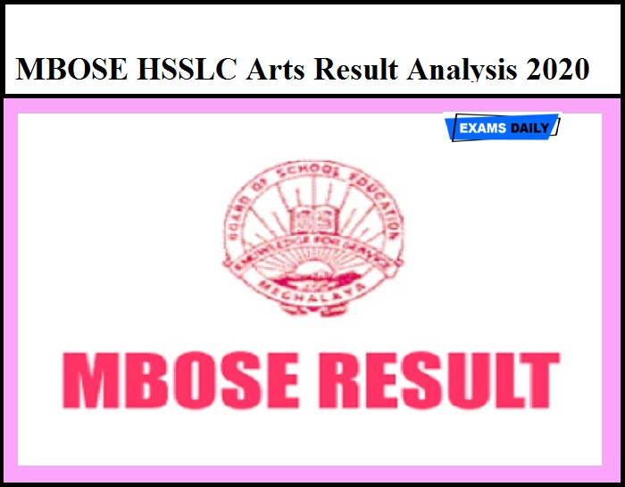 MBOSE HSSLC Arts Result Analysis 2020 – Download Meghalaya Board Class 12 Toppers List Here