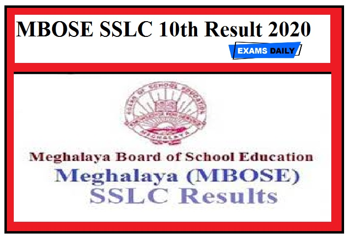 MBOSE SSLC 10th Result 2020 (Released Today) - Meghalaya SSLC 10th result link here, check now
