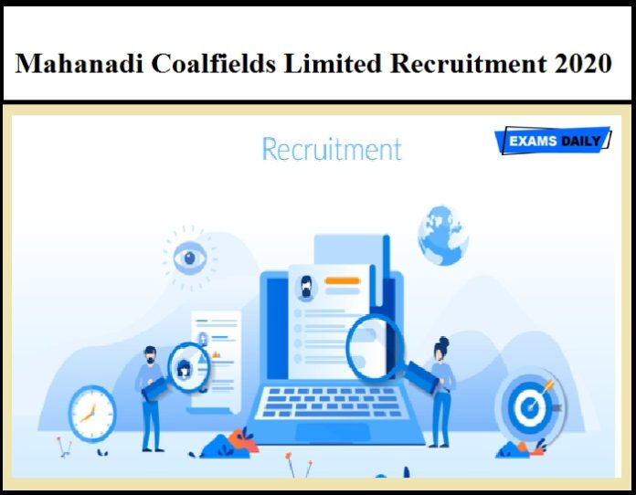 Mahanadi Coalfields Limited Recruitment 2020 - Apply for Medical Consultant Vacancies