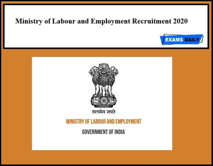 Ministry of Labour and Employment Recruitment 2020