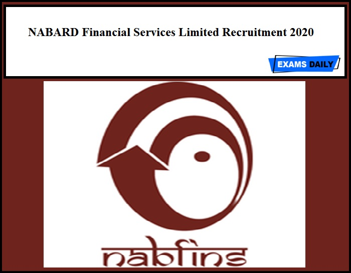 NABARD Financial Services Limited Recruitment 2020