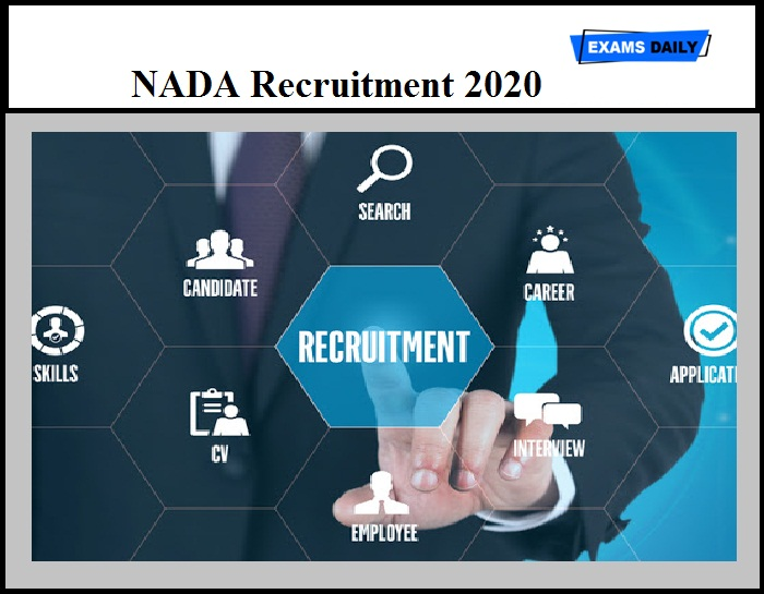 NADA Recruitment 2020 OUT – International Consultant Vacancy