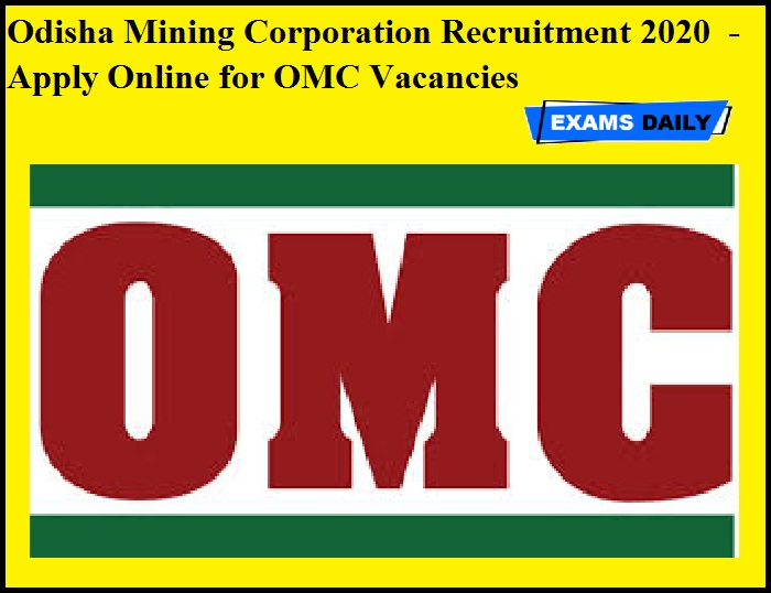 OMC Recruitment 2020 OUT