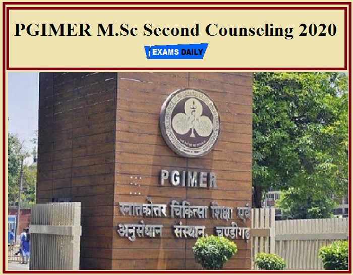 PGIMER M.Sc Second Counseling 2020