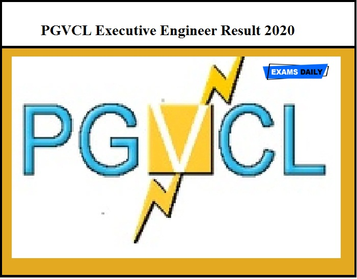 PGVCL Executive Engineer Result 2020 Out – Download Answer Key Here