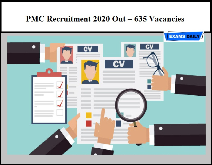 PMC Recruitment 2020 Out – 635 Staff Nurse & Other Vacancy