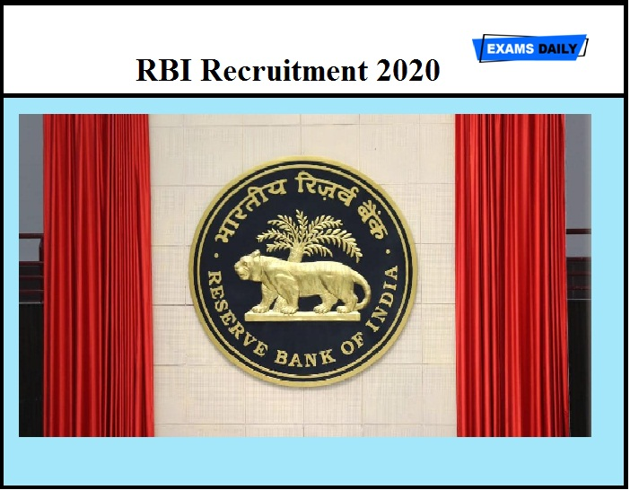RBI Recruitment 2020 Last Date Extended – Bank Medical Consultant Vacancy