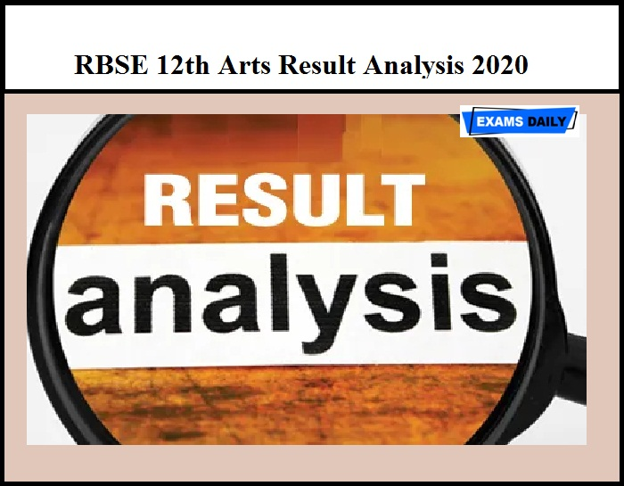 RBSE 12th Arts Result Analysis 2020 – Check Rajasthan Class 12 Result Details Here