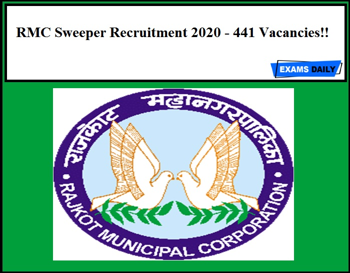 RMC Recruitment 2020 Out – 441 Sweeper Vacancies!!