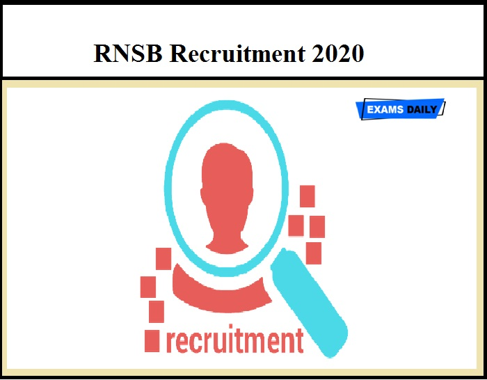 RNSB Recruitment 2020 OUT – Deputy Chief Manager Vacancy