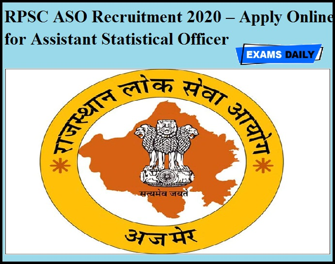 RPSC ASO Recruitment 2020 OUT – Apply Online for Assistant Statistical Officer