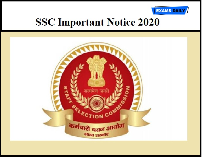 SSC Important Notice 2020 Out – Regarding The Last Date of Junior Hindi Translator & Other Post