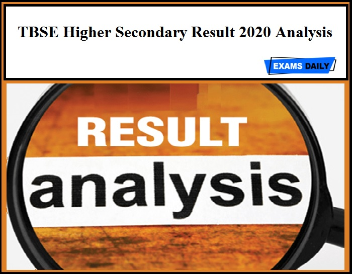 TBSE Higher Secondary Result 2020 Analysis
