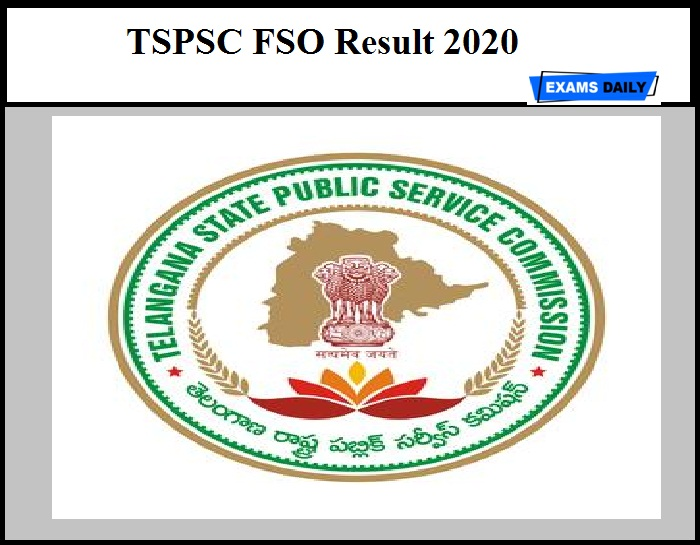 TSPSC FSO Result 2020 Out – Download Selection List Here