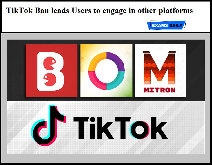 TikTok Ban leads Users to engage in other platforms