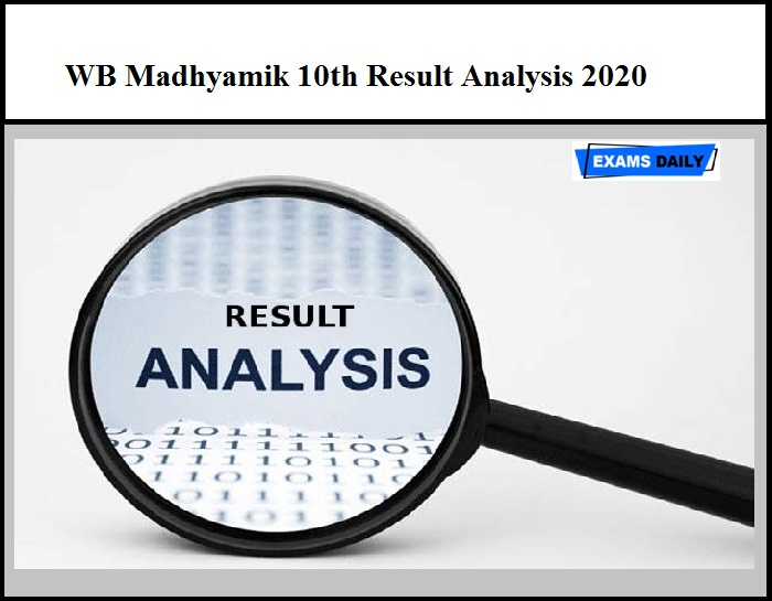 WB Madhyamik 10th Result Analysis 2020 – Check WBBSE Class 10 Result Details