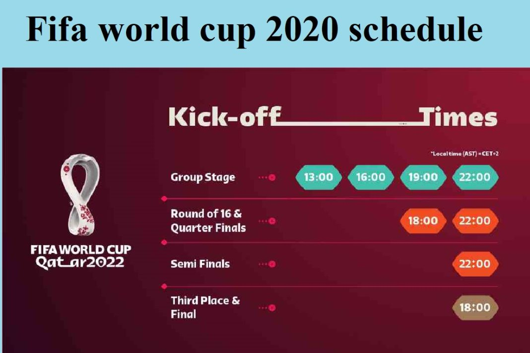 Fifa world cup 2020 schedule released