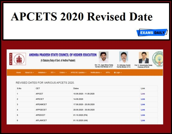 APCETS 2020 Revised Dates