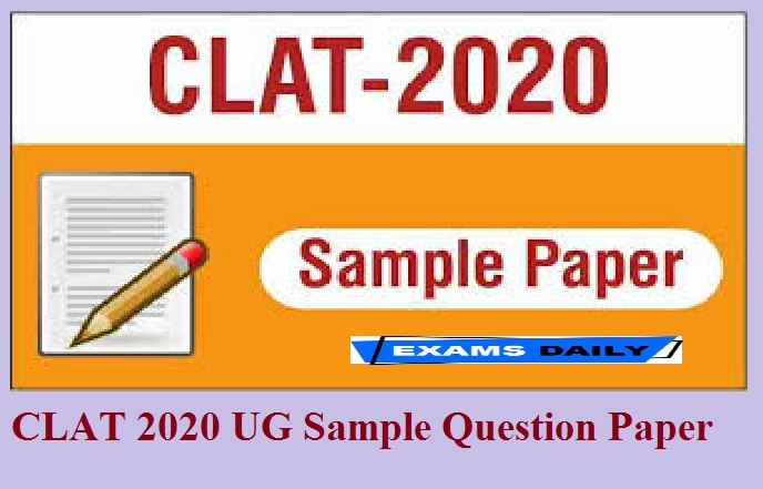 CLAT 2020 UG Sample Question Paper