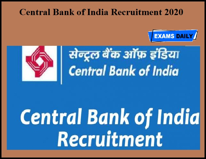Central Bank of India Recruitment 2020 OUT