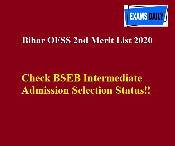 Check BSEB Intermediate Admission Selection Status!!