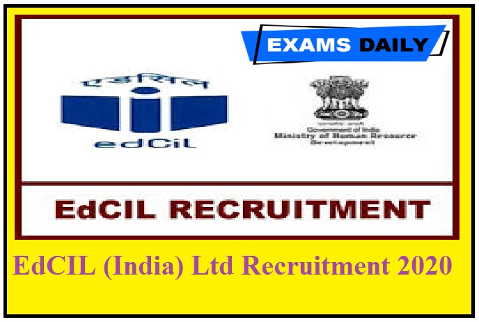 EdCIL (India) Ltd Recruitment 2020