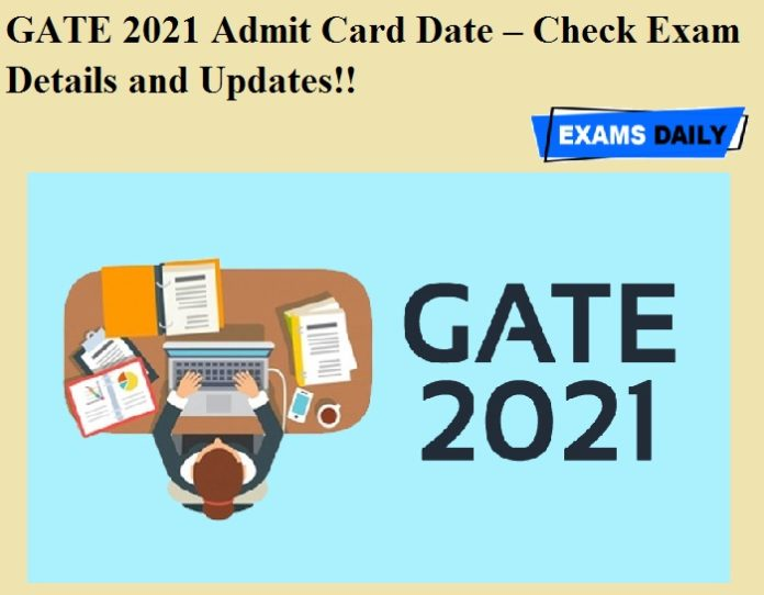 GATE 2021 Admit Card Date – Check Exam Details and Updates!!