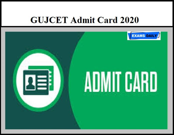 GUJCET Admit Card 2020 Released – Download GSEB Entrance Exam Date Here
