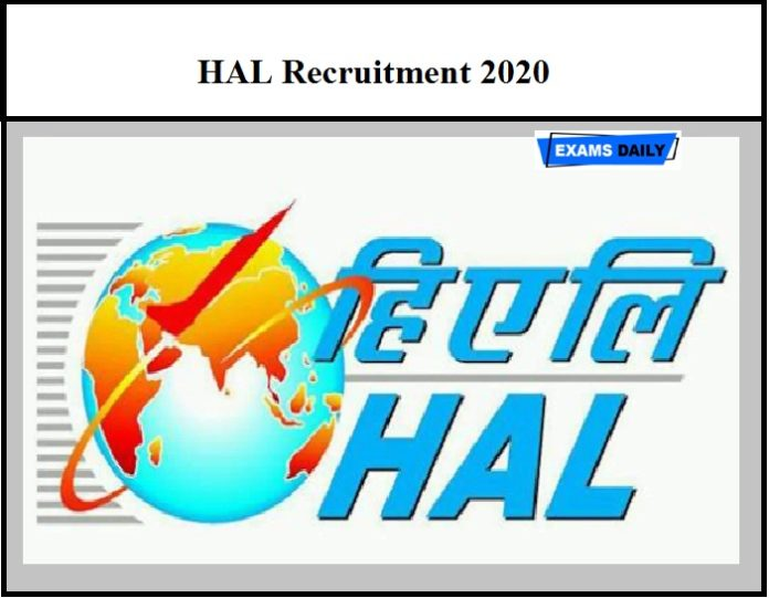 HAL Recruitment 2020 OUT - Diploma Technician Vacancies