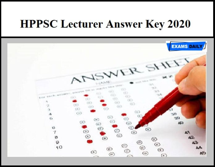 HPPSC Lecturer Answer Key 2020 OUT – Download PDF Here