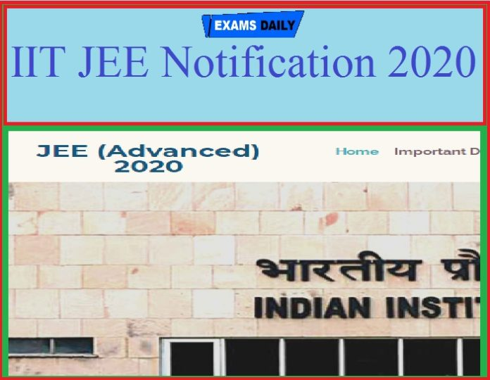 IIT JEE Notification 2020 (Autosaved)