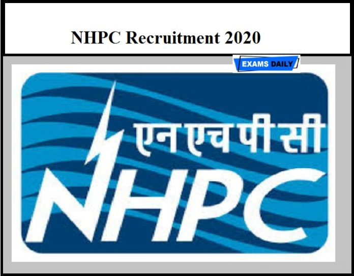 NHPC Recruitment 2020 OUT – Apply Online for 86 Trainee Officer & Other Vacancies