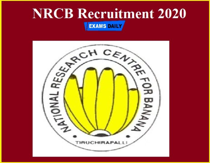 NRCB Recruitment 2020