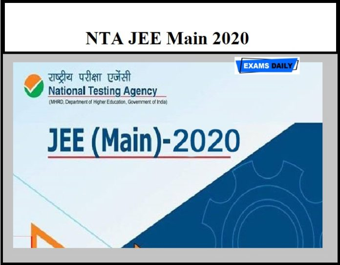 NTA JEE Main 2020 – Check Important Exam Instruction Here (Download Official Notice)