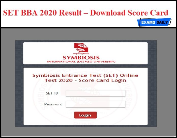 SET BBA 2020 Result OUT – Download Score Card