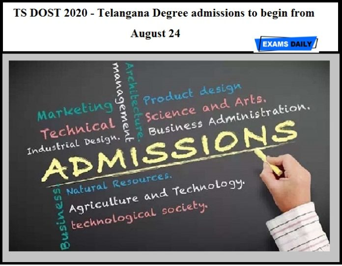 TS DOST 2020 - Telangana Degree admissions to begin from August 24