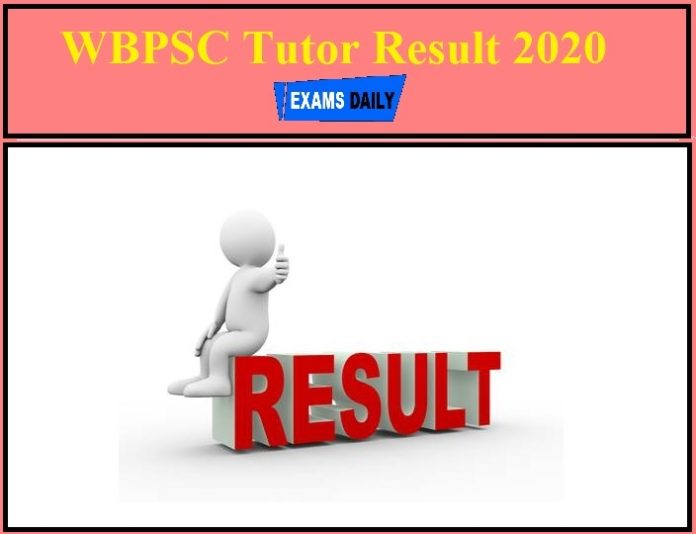 WBPSC Tutor Result 2020