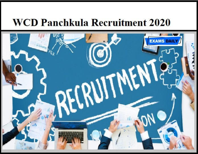 WCD Panchkula Recruitment 2020 OUT – Download Application Form