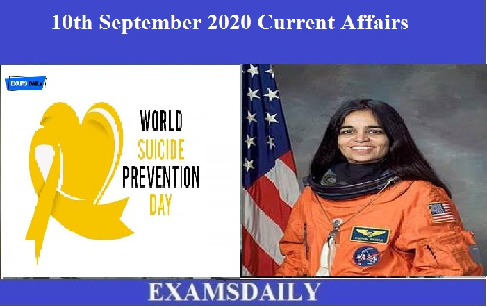 10th September 2020 Current Affairs