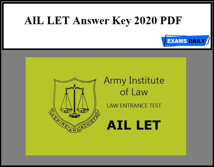 AIL LET Answer Key 2020 PDF - Download Now!!