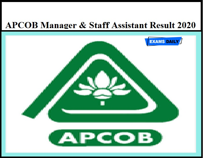 APCOB Manager Result 2020 Released – Download Selection List for Staff Assistant