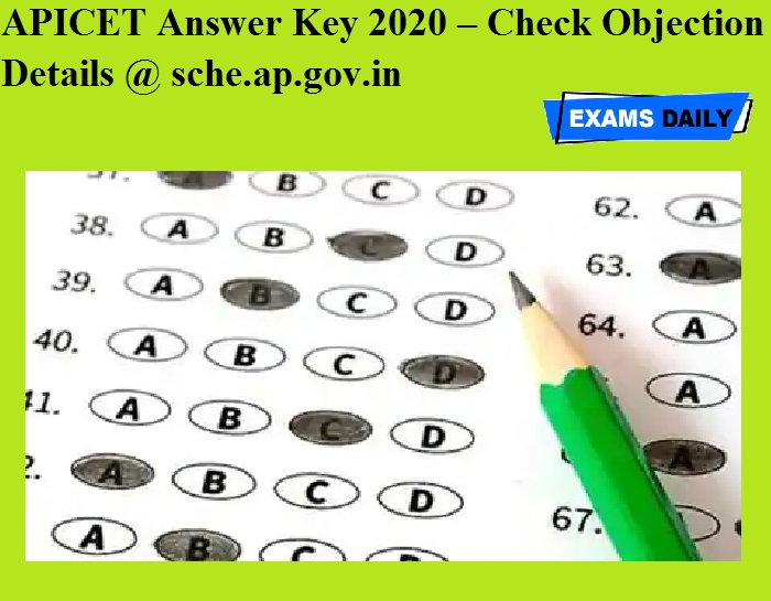 APICET Answer Key 2020 – Check Objection Details @ sche.ap.gov.in