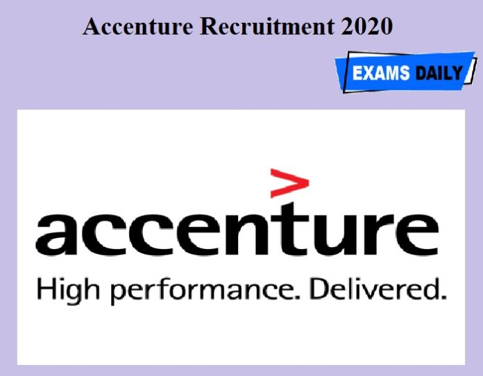 Accenture Recruitment 2020 OUT