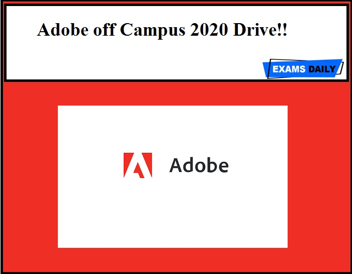 Adobe off Campus 2020 Drive!!