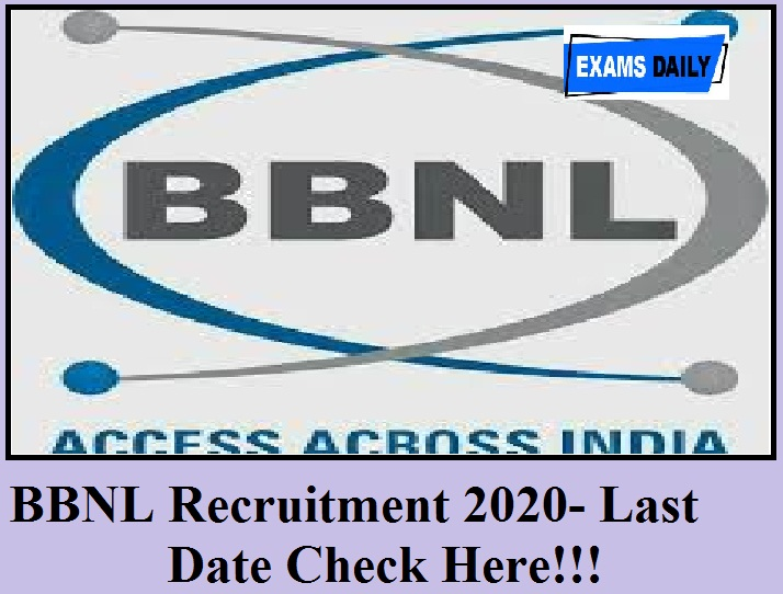 BBNL Recruitment 2020
