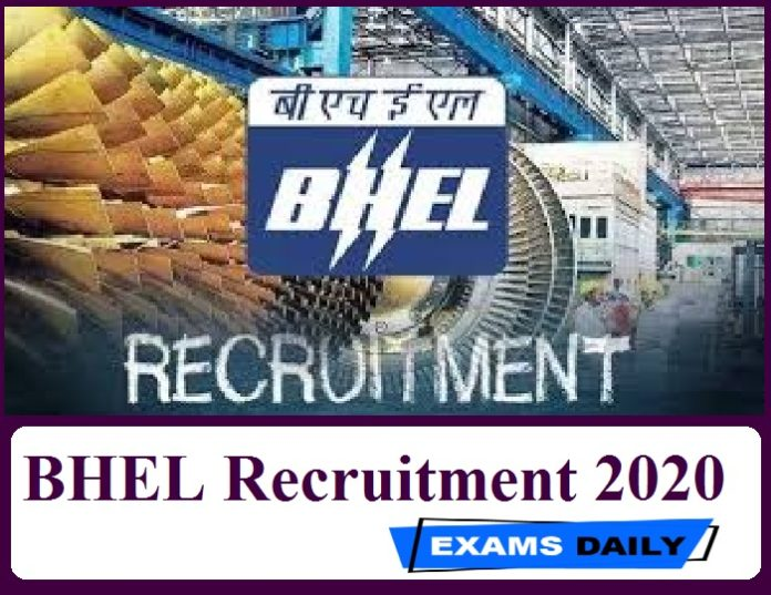 BHEL Recruitment 2020 Out – Walk in Interview for Medical Officer Posts