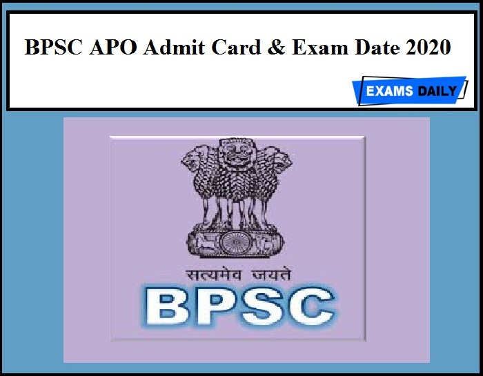 BPSC APO Admit Card 2020 – Download Assistant Prosecution Officer Exam Date!!