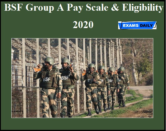 BSF Group A Pay Scale & Eligibility 2020