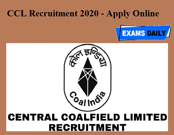 CCL Recruitment 2020 OUT - Apply Online