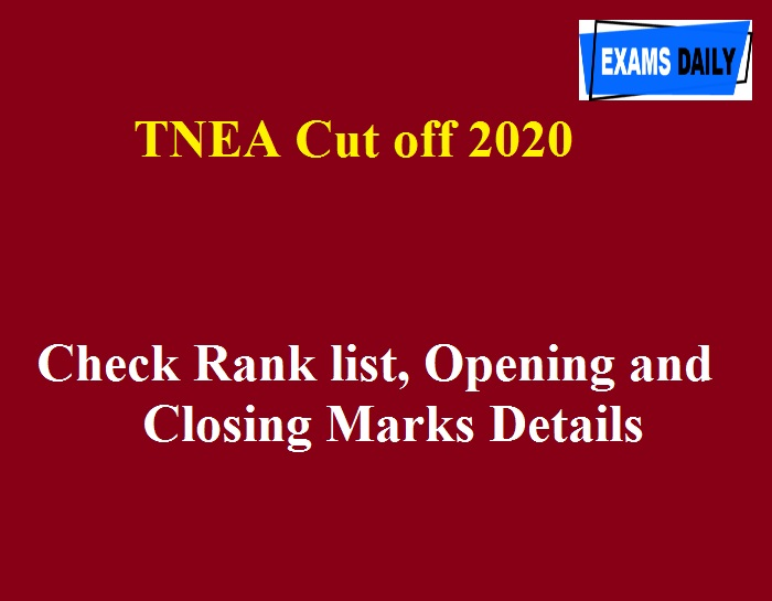 Check Rank list, Opening and Closing Marks Details